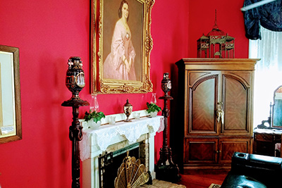 The Francis Thompson Room - Art & Fireplace